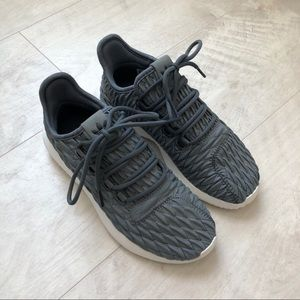 Gray Adidas Tubular Shadows w/ Quilted Texture